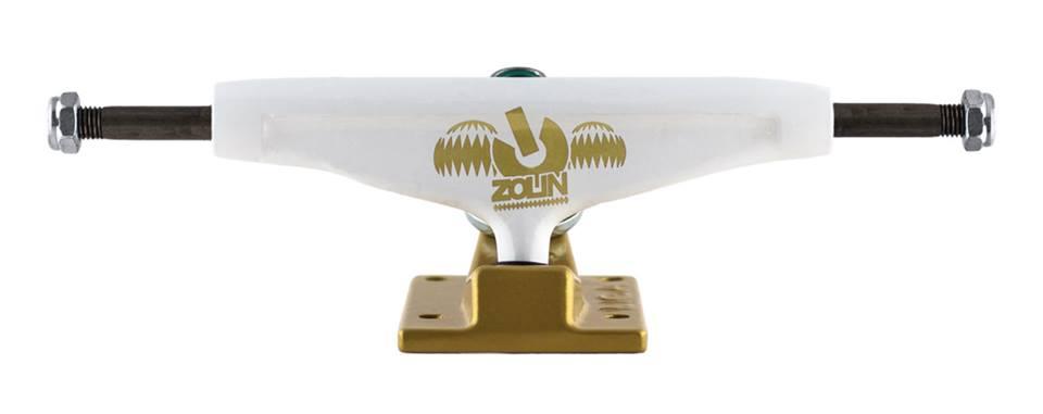 Truck Liga Zolin 139 mm Branco/Dourado
