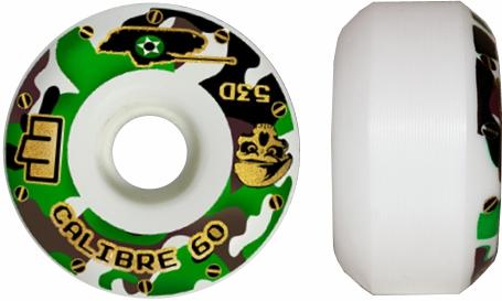 Roda Moska Skate 60 mm Calibre Branca