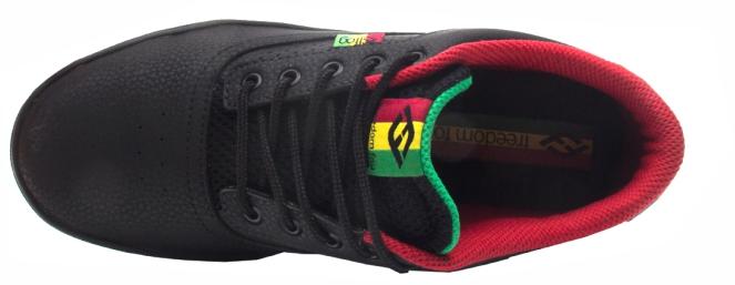 Tênis Freedomfog Front Roots Reggae Preto