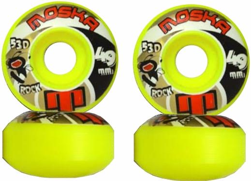 Roda Moska Skate  49 mm Amarela