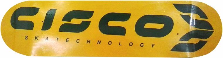 Shape Cisco FN+R Logo Oficial Amarelo e Verde