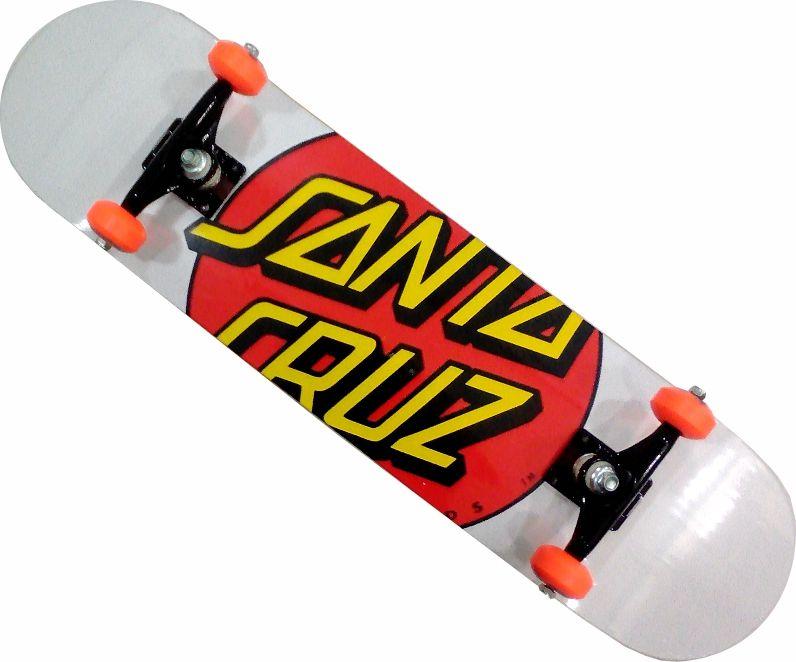 Skate Santa Cruz Montado Completo Big Hot/Moska/Oficina Abec 13
