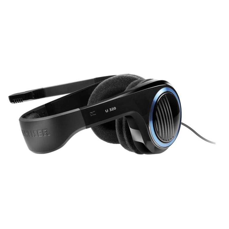 Fone de Ouvido Headset Sennheiser U320 com microfone para PC Xbox 360 Xbox One PS3 PS4 - Preto ...