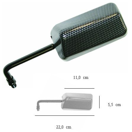 Espelho Modelo Euro 10mm hornet/bandit (o Par)  - Nova Centro Boutique Roupas para Motociclistas