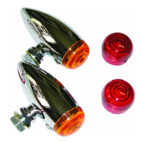 Pisca Emgo Bullet Cromado para Custom  - Nova Centro Boutique Roupas para Motociclistas
