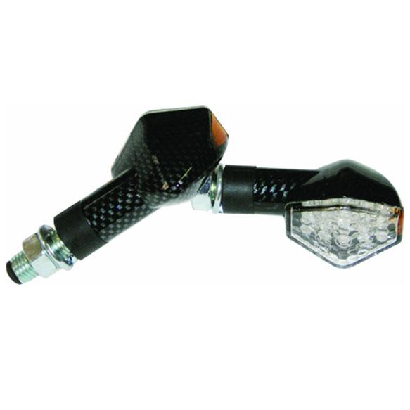 Pisca Emgo em Led Diamond Carbono Lente Transp. (Universal)  - Nova Centro Boutique Roupas para Motociclistas