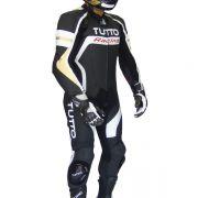 Macacão Tutto Moto Racing 1 peça Branco c/ Dourado