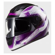 Capacete LS2 FF320 Stream Lux White / Purple