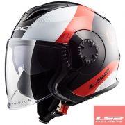 Capacete Ls2 FF570 Verso Technik Black/Red