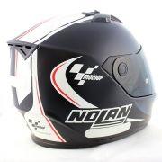 0 Capacete Nolan N64 MotoGP Flat Black c/ Branco  (GANHE BALACLAVA)
