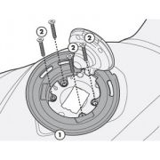 Flange Givi P/ fixação de bolsas tanklock GIVI BF22 BMW (DVS MODELOS)
