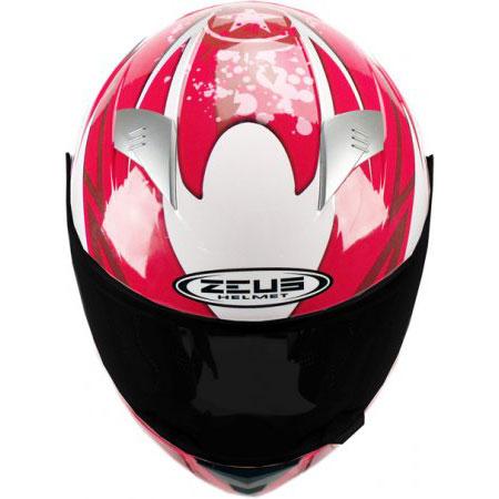 Capacete Zeus 810 2 Chaos Vermelho  - Nova Centro Boutique Roupas para Motociclistas