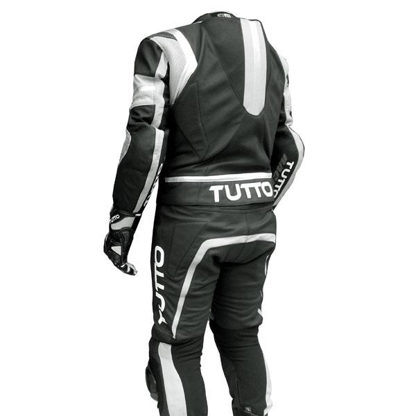 Macacão Tutto Moto Racing  2  peças Branco c/ Prata  - Nova Centro Boutique Roupas para Motociclistas