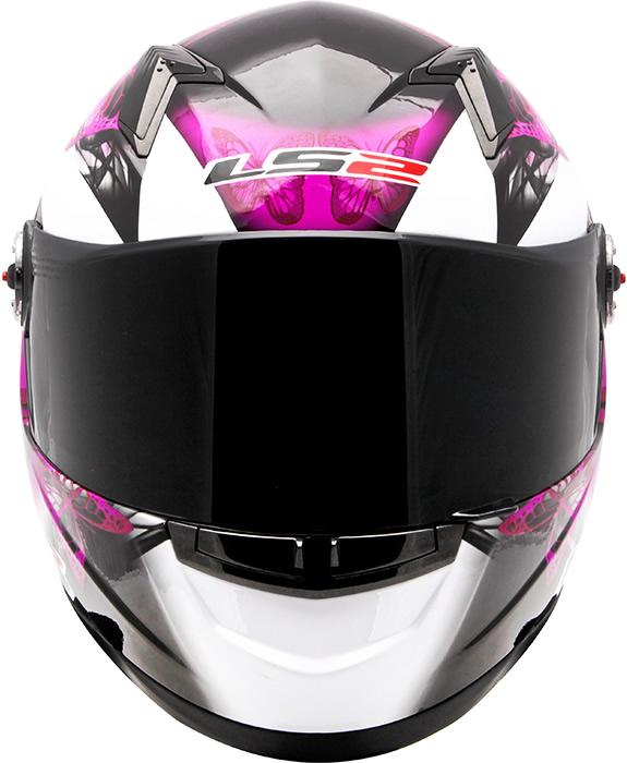 Capacete LS2 FF358 Chic Branco Feminino  - Nova Centro Boutique Roupas para Motociclistas