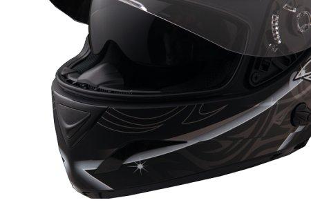 Capacete Zeus 806A II3 CHAOS BLACK/RED  - Nova Centro Boutique Roupas para Motociclistas