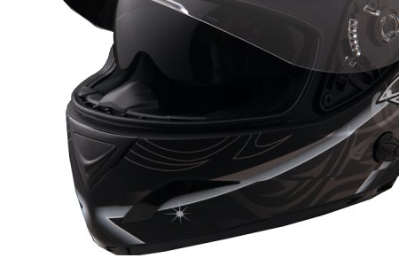 Capacete Zeus 806A II16 TSUNAMI WHITE  - Nova Centro Boutique Roupas para Motociclistas
