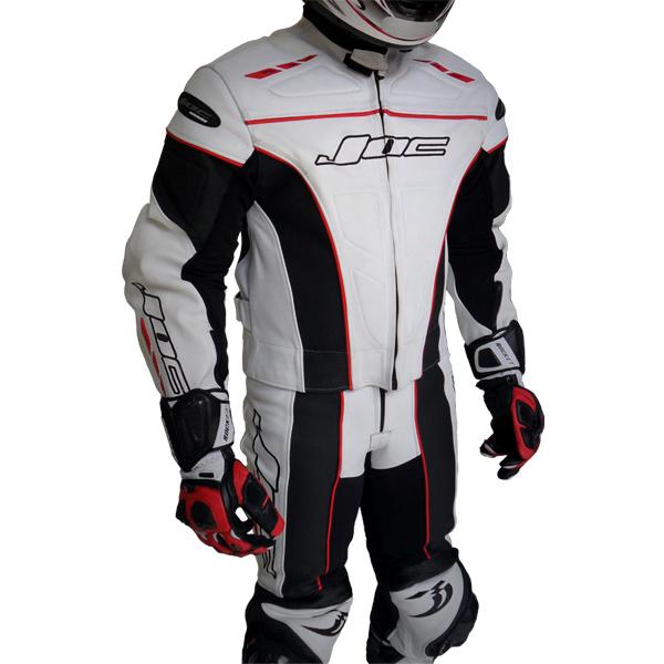 Macacão JOC Racing c/ Cupim - Branco  - Nova Centro Boutique Roupas para Motociclistas