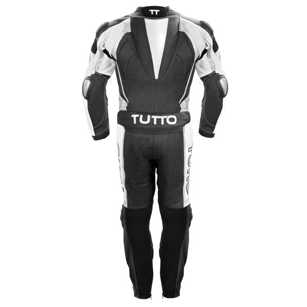 Macacão Tutto Moto Titanium 2 peças Preto c/ Prata  - Nova Centro Boutique Roupas para Motociclistas