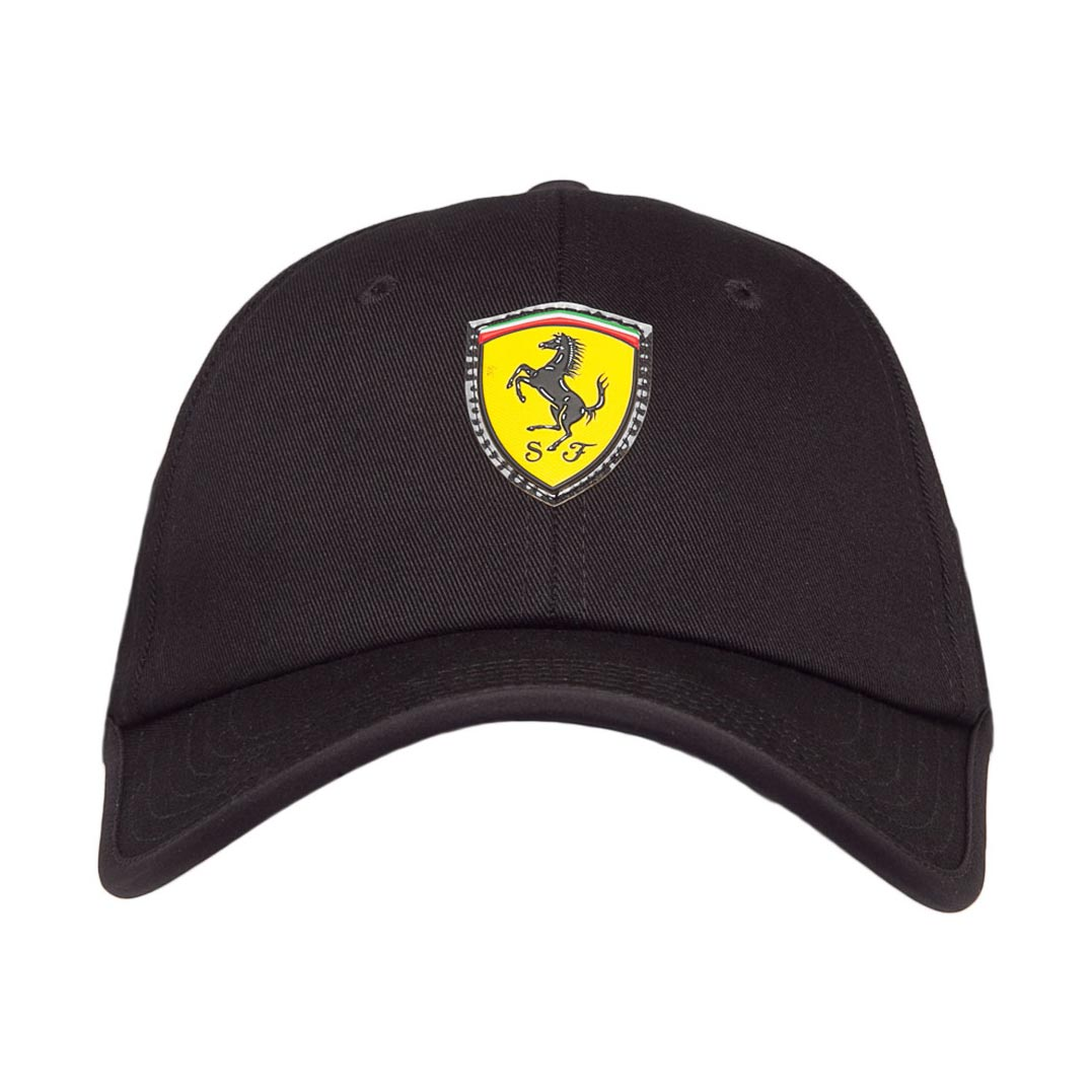 Boné Puma STYFR Ferrari Fanwear Baseball Cap (Preto)  - Nova Centro Boutique Roupas para Motociclistas