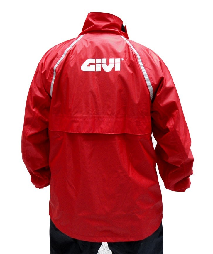 Capa de chuva GIVI Vermelha/Preta  - Nova Centro Boutique Roupas para Motociclistas