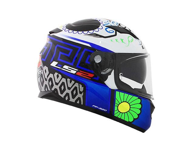 Capacete LS2 FF320 Stream Couture Azul Feminino  - Nova Centro Boutique Roupas para Motociclistas