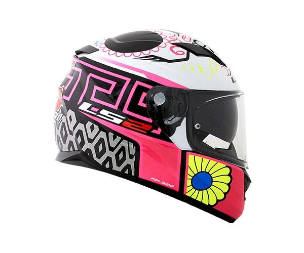 Capacete LS2 FF320 Stream Couture Rosa Feminino  - Nova Centro Boutique Roupas para Motociclistas