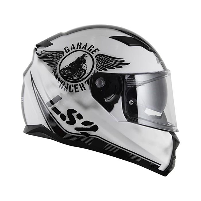Capacete LS2 FF320 STREAM GARAGE Gloss White  - Nova Centro Boutique Roupas para Motociclistas