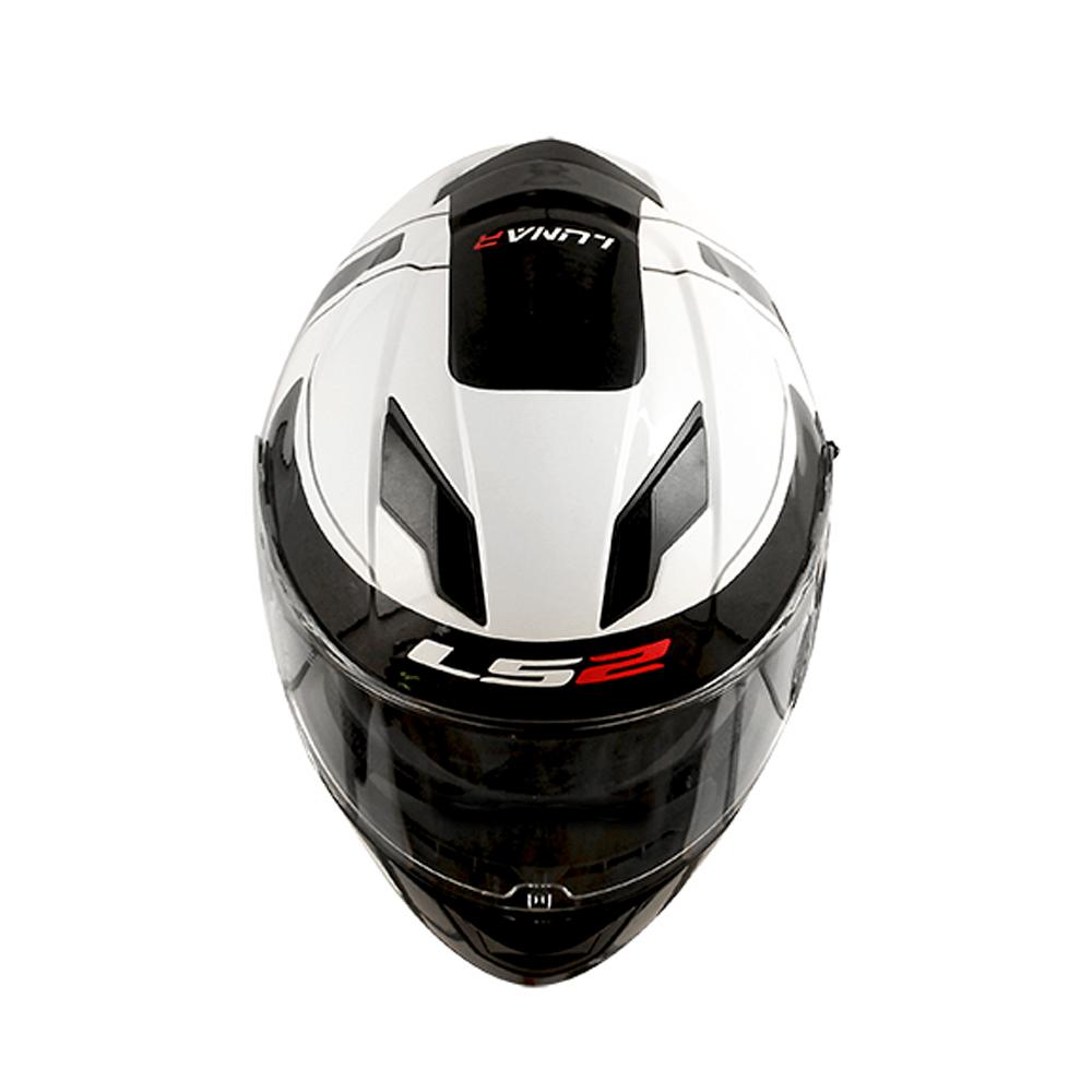 Capacete LS2 FF320 Stream Lunar (Branco/Preto)  - Nova Centro Boutique Roupas para Motociclistas