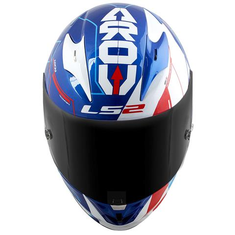 Capacete LS2 FF323 Arrow R Techno White/Blue/red