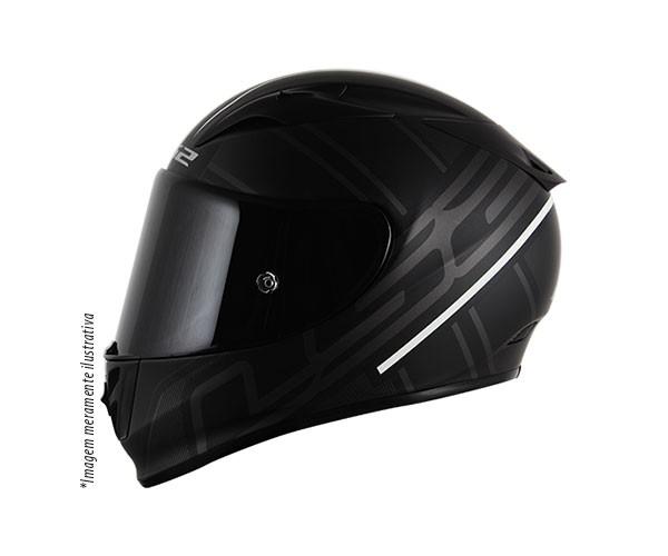 CAPACETE LS2 FF323 ION (FIBRA DE CARBONO/VIDRO/KEVLAR) PRETO/CINZA  - Nova Centro Boutique Roupas para Motociclistas