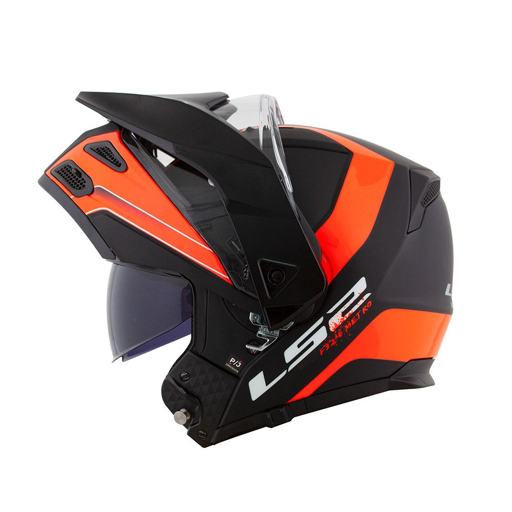 Capacete LS2 FF324 Metro Evo Rapid Black/Orange