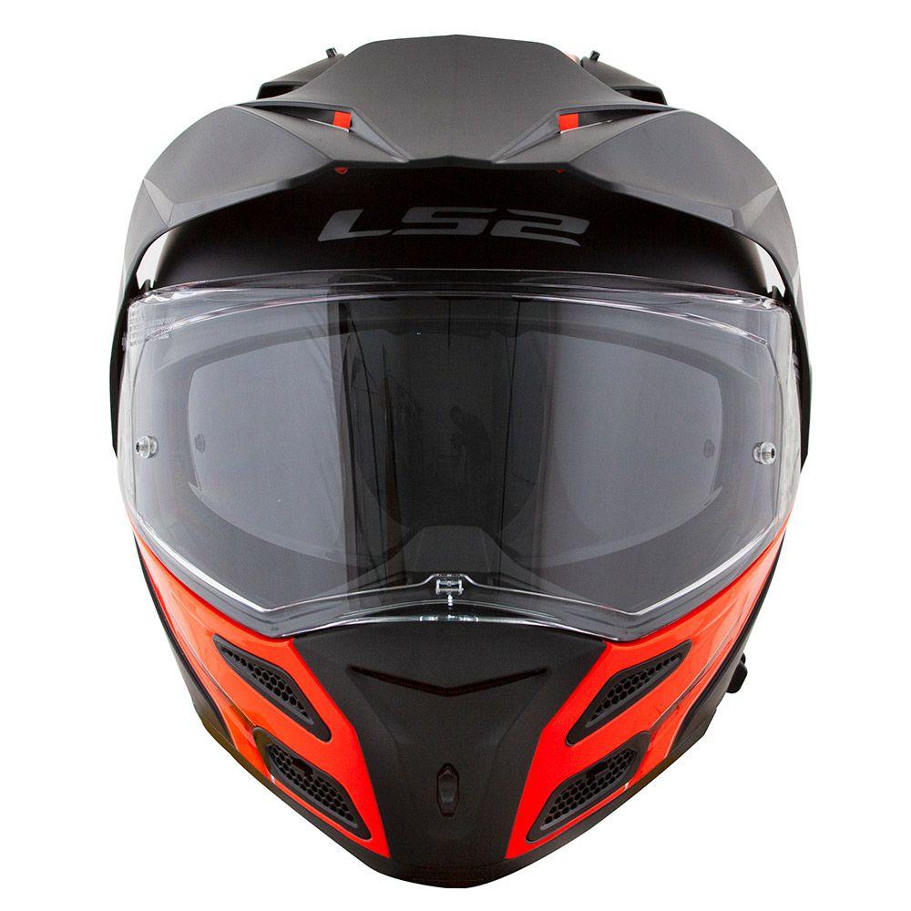 Capacete LS2 FF324 Metro Evo Rapid Black/Orange  - Nova Centro Boutique Roupas para Motociclistas