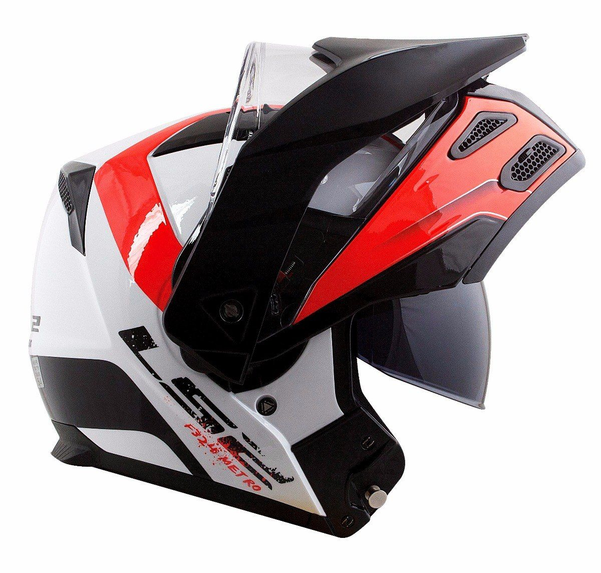 Capacete Ls2 FF324 Metro Evo Rapid White/Black/Red