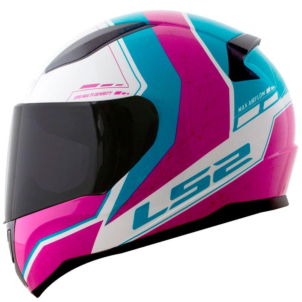 Capacete Ls2 FF353 Rapid Candie - Blue/Pink/White