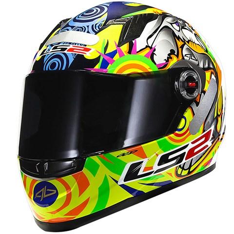 CAPACETE LS2 FF358 Réplica Alex Barros Amarelo  - Nova Centro Boutique Roupas para Motociclistas