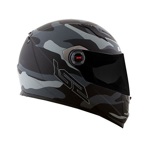 Capacete LS2 FF358 Army (Cinza)  - Nova Centro Boutique Roupas para Motociclistas