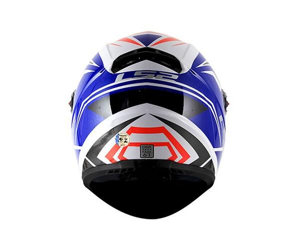 Capacete LS2 FF358 Blade Branco / Azul   - Nova Centro Boutique Roupas para Motociclistas