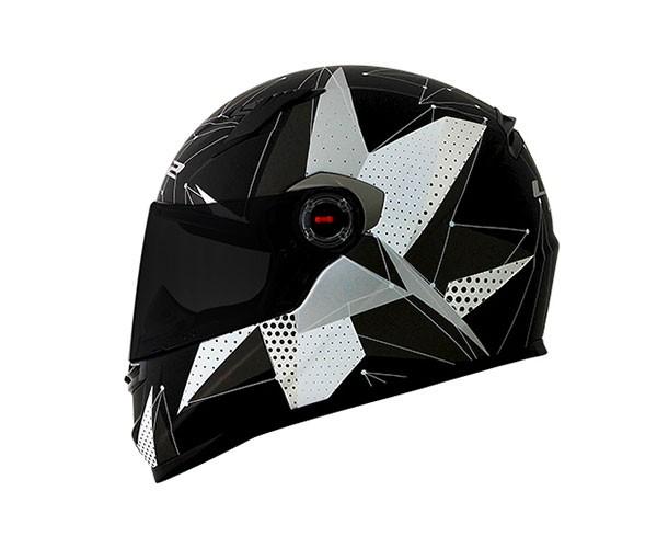 Capacete LS2 FF358 Brilliant Matt BLK Feminino  - Nova Centro Boutique Roupas para Motociclistas