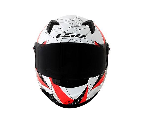 Capacete LS2 FF358 Brilliant White/Pink Feminino  - Nova Centro Boutique Roupas para Motociclistas