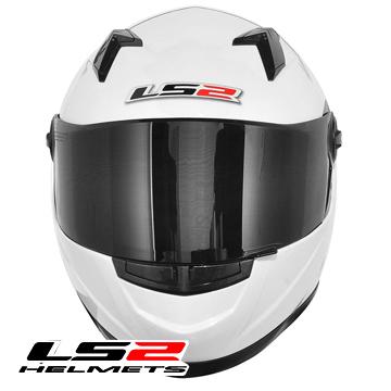Capacete LS2 FF358 Gloss White  - Nova Centro Boutique Roupas para Motociclistas