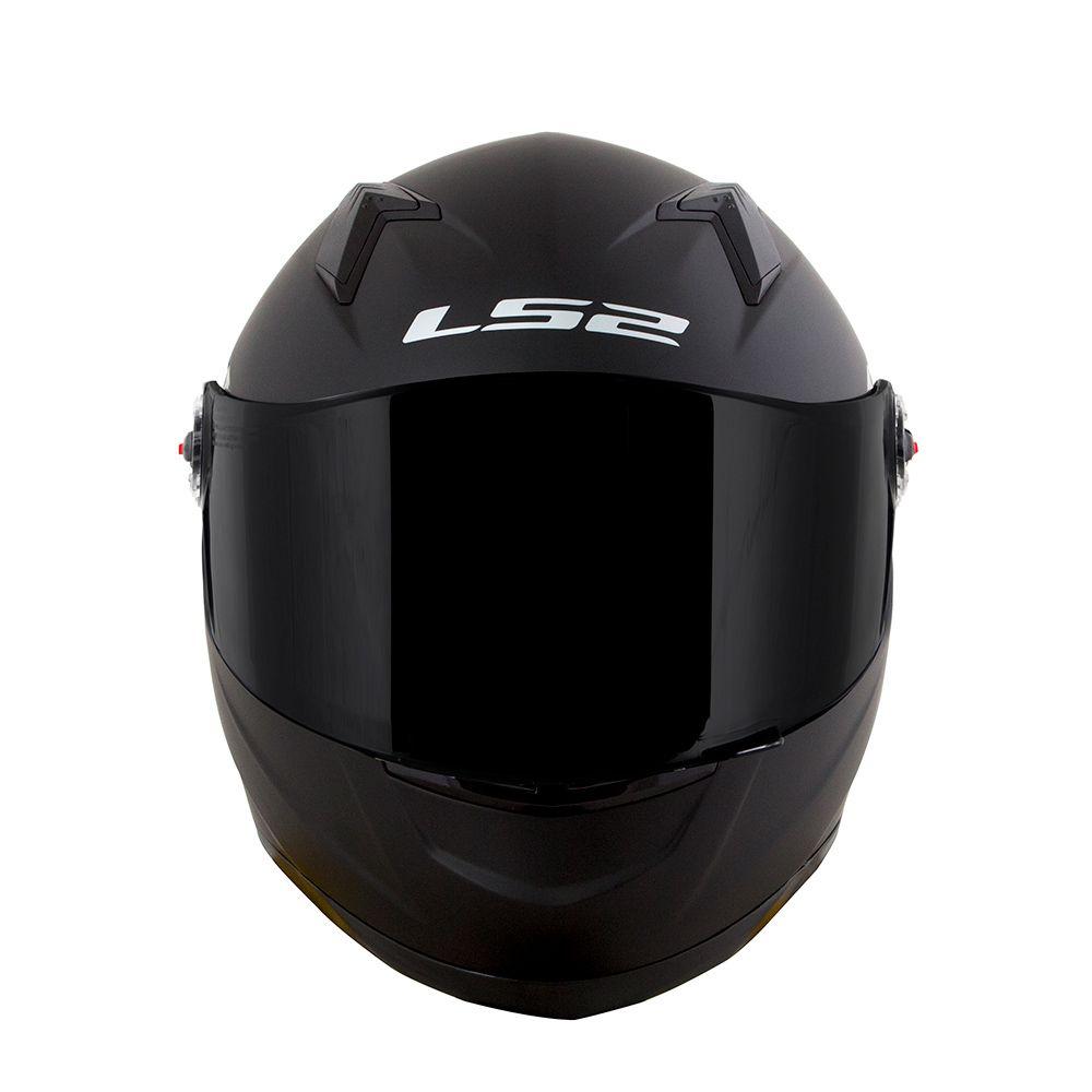 Capacete LS2 FF358 Mono Matt Black ENTREGA PREVISTA PARA DIA 24/04  - Nova Centro Boutique Roupas para Motociclistas