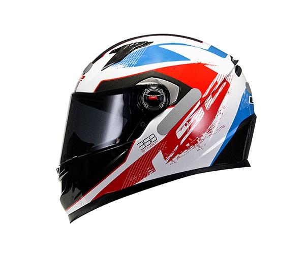 Capacete LS2 FF358 Stinger Red/Blue  - Nova Centro Boutique Roupas para Motociclistas