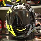 Capacete LS2 FF358 Touring  Preto/Cinza/Amarelo  - Nova Centro Boutique Roupas para Motociclistas
