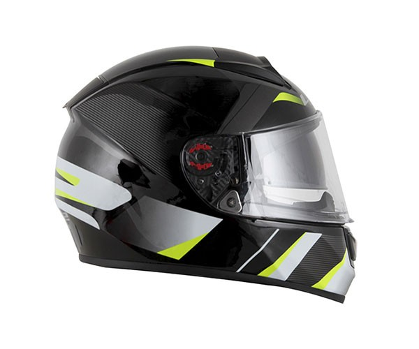Capacete LS2 FF397 Vector Astro Preto/Verde  - Nova Centro Boutique Roupas para Motociclistas