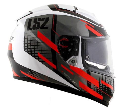 Capacete LS2 FF397 Vector Bit White Red - LANÇAMENTO  - Nova Centro Boutique Roupas para Motociclistas