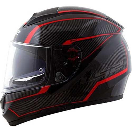Capacete LS2 FF397 Vector Evo Aurora Branco/Vermelho  - Nova Centro Boutique Roupas para Motociclistas