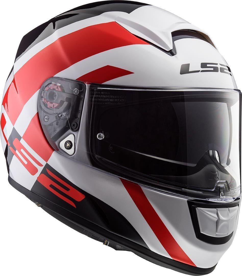 Capacete LS2 FF397 Vector EVO Trident Branco/Preto/Vermelho