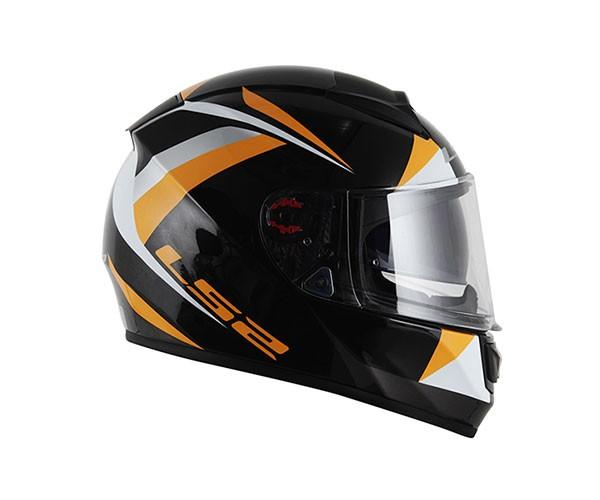 Capacete LS2 FF397 Vector Labirinty Preto/Laranja  - Nova Centro Boutique Roupas para Motociclistas