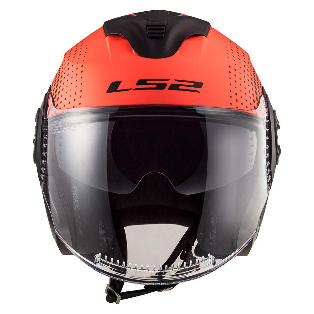 Capacete Ls2 FF570 Verso - Spin - Laranja / Preto - LANÇAMENTO  - Nova Centro Boutique Roupas para Motociclistas
