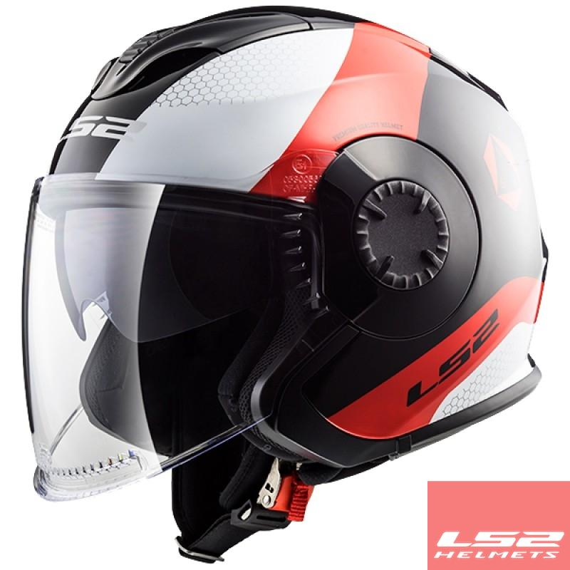 Capacete Ls2 FF570 Verso Technik Black/Red